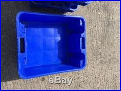 100 x Strong Plastic Stackable Nestable Storage Box 60 x 50 x 25cm Fish Landing