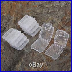 10Pcs SD SDHC Memory Card Case Holder Box Storage Hard Plastic White NEW ARRIVAL