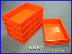 10 New Red Removal Storage Crate Box Container 21L