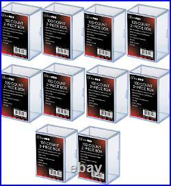 (10 Pack) Ultra Pro 2 Piece Plastic Card Storage Box (100 Count Size) Slider Box