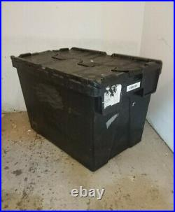 10 X 75ltr EXTRA DEEP Heavy Duty Plastic Storage Tote Boxes 600 x 400 x 400mm