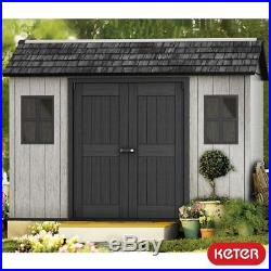 11x7 Outdoor Storage Shed Windows Garden Store Bikes Tool Building Container Box