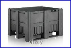1200 x 1000 x 740mm Plastic Pallet Box DOLAV GREY STORAGE BOX HEAVY DUTY