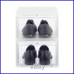 12 Men's Drop-Front Shoe Box Sneaker Container Storage Organizer Men Shoe Boxes