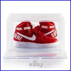 12 x Premium Clear Side Drop BOGO Shoe box Sneaker Crates Storage Container