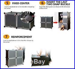 15 Boxes Interlocking Cube Storage Wardrobe Clothes Organizer 6 Tiers 5 Columns