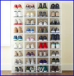 30 Men's Drop-Front Shoe Box Sneaker Container Storage Organizer Men Shoe Boxes