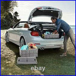 32 Litre Collapsible Plastic Storage Crate Box Stackable Home Office Garage Car