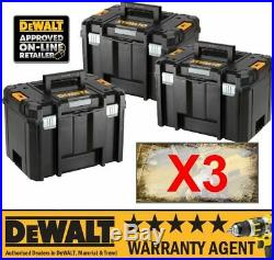 3X DeWALT DWST1-71195 TSTAK VI Deep Tool Box Storage Case 23L NO Tote Tray