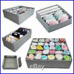 3-9 Foldable Storage Underwear Sock Bra Tie Draw Divider Organiser Container Box