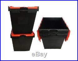 3 Black/Red New Removal Storage IT1 Crate Box Container 165L
