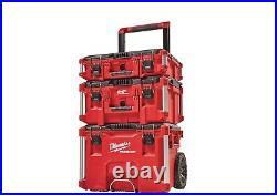 3 Black Tough Mobile Rolling Organizer PACKOUT Modular Tool Box Storage System