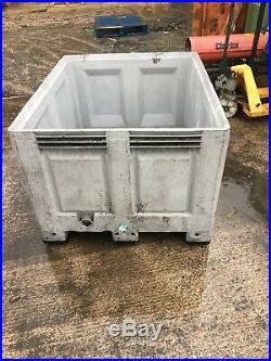 3 x DOLAV Plastic Pallet Box, Storage Bin, 1200x1000mm Slightly Damaged