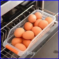 4PC Kitchen Fridge Rack Holder Cupboard Drawer Space Saver Organizer Storage Box