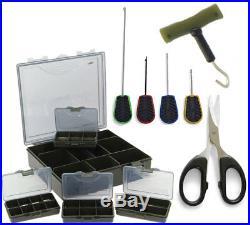 4+1 Tackle & Bit Box Storage System & 6pc Baiting Set Carp Coarse Fishing NGT