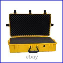 4 Pack XXL Graded Card Storage Box Yellow Weatherproof Case Travel Slab Holder