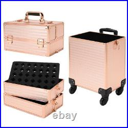 4 in 1 Large Makeup Cosmetic Hairdressing Vanity Beauty Storage Case Trolley Box