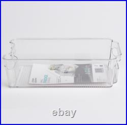 4 x Small Fridge Storage Box Container Set Kitchen Food Organiser Holder New