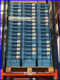 50 x Stackable Tote Storage Boxes 60cmx40cmx30cm