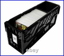 5 BCW Long Comic Book Bins Black Plastic Storage Box