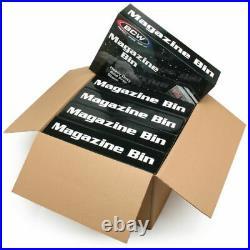 5 BCW Magazine & Document Bins Black Plastic Strong Durable Storage Box