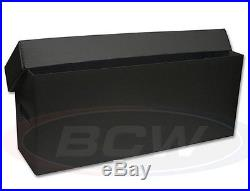 5 Black Plastic Long Comic Storage Boxes Each holds 200 to 225 Book Supplies