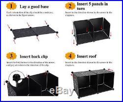 5-Tier 4-Column 14 Boxes Interlocking Cube Storage Wardrobe Clothes Organizer