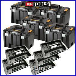 5 x Dewalt DWST1-71195 T-Stak VI Deep Tool Storage Box 23L With 5 Tote Tray