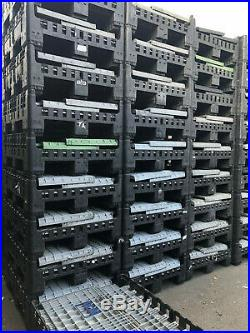 5 x PLASTIC STORAGE FOLDING PALLET BOX CONTAINER MAGNUM CLASSIC K975 GRADE A