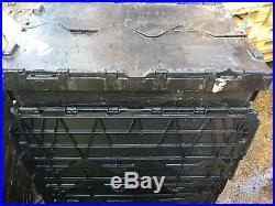 60 x Plastic storage boxes/crates, Tote boxes, Mixed sizes, SLIGHTLY DAMAGED