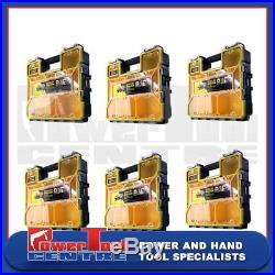 6 x Stanley FatMax Deep Waterproof Pro Organiser 10 Compartment Storage Box