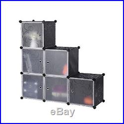 8 Boxes DIY Organizer Stand Storage Interlocking Bookcases Rack with Metal Base