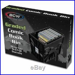 BCW (5) FIVE CGC GRADED Comic Box Storage Bin Plastic Strong DurableStackable