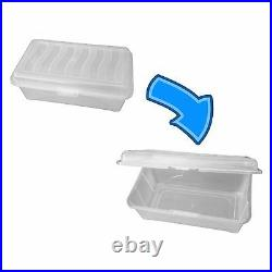 Clear Storage Box With LID / Shoe Box / Plastic / Clear