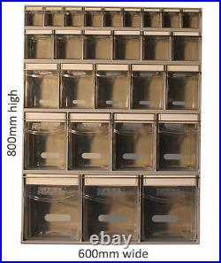 Complete Tilt Bin Van Kit (27 Compartments). Small Parts Bins