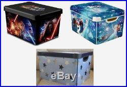 Curver Blue Stars / Star Wars / Frozen Stockholm Storage Box Lidded 22L Plastic