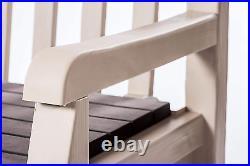 EXP DEL Keter Eden Bench Outdoor Plastic Storage Box Garden Patio Furniture
