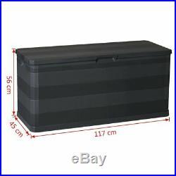 Extra Large Outdoor Garden Storage Box Plastic Utility Chest Waterproof Unit Box