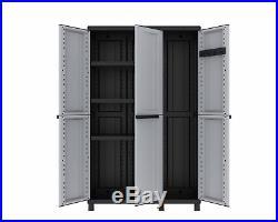 Extra Wide Weatherproof Outdoor Garden Storage Cabinet Cupboard Chest Box Large