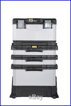 Fatmax Metal Tool Box Plastic Portable Rolling Workshop Garage Storage Slider