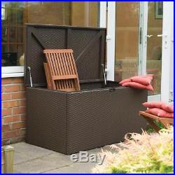 GARDEN STORAGE DESK BOX Metal Fire Resistant Rot Heavy Duty Outdoor Furniture