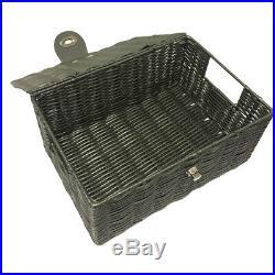 GREY 3x RESIN WICKER HAMPER BASKET STORAGE ORGANISER LID BOX PREORDER