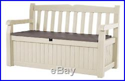 Garden Bench With Storage Box 265L Waterproof Outdoor Furniture Outside Bench