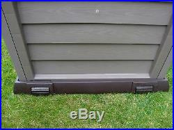 Garden Large Lockable Storage Box Outdoor Plastic Shed Waterproof Chest 390L NEW