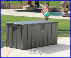 Garden Plastic Storage Box Container Tools Patio Cushion Store Heavy Duty Chest