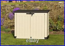 Garden Storage Box Large Yard Patio Garden Bike Outdoor Shed Plastic BBQ Bins