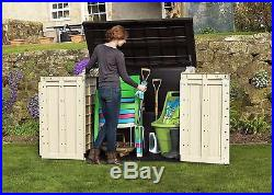 Garden Storage Box Outdoor Log Shed Bike Covers Cabinet Bin Extra Large Durable