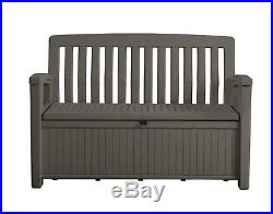 Garden Storage Patio Bench Outdoor Deck Box Plastic Gal Pool Seat Furniture