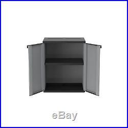 Garden Wardrobe Outdoor Tools Box Cupboard Storage Plastic Patio Cabinet Unit