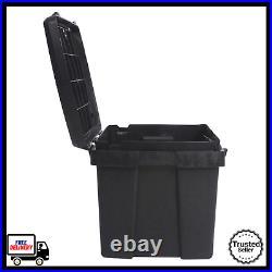 Heavy Duty Large 53 Gallon Tuff Bin Lock Tool Box Security Locking Storage Black